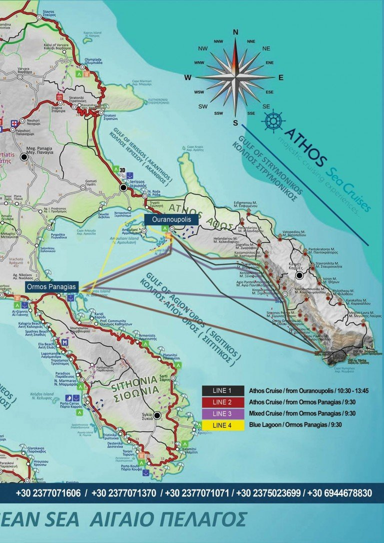 Check our cruise map