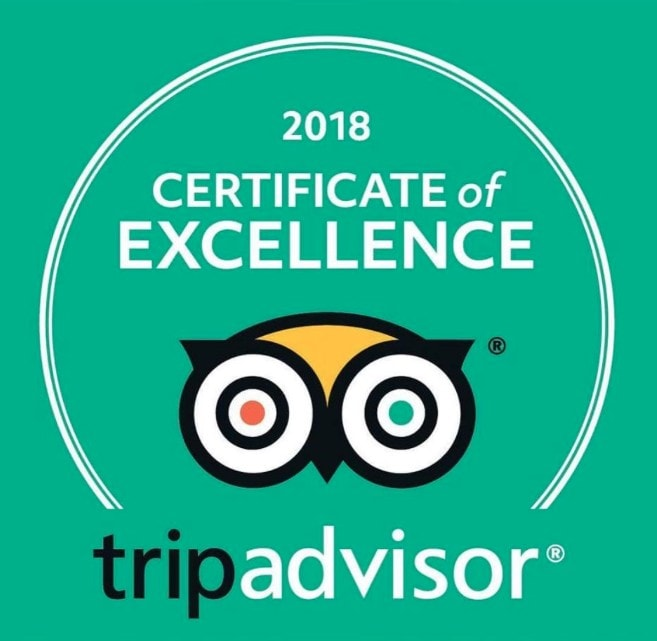 We are extremely proud to have won TripAdvisor's Certificate of Excellence for 2018