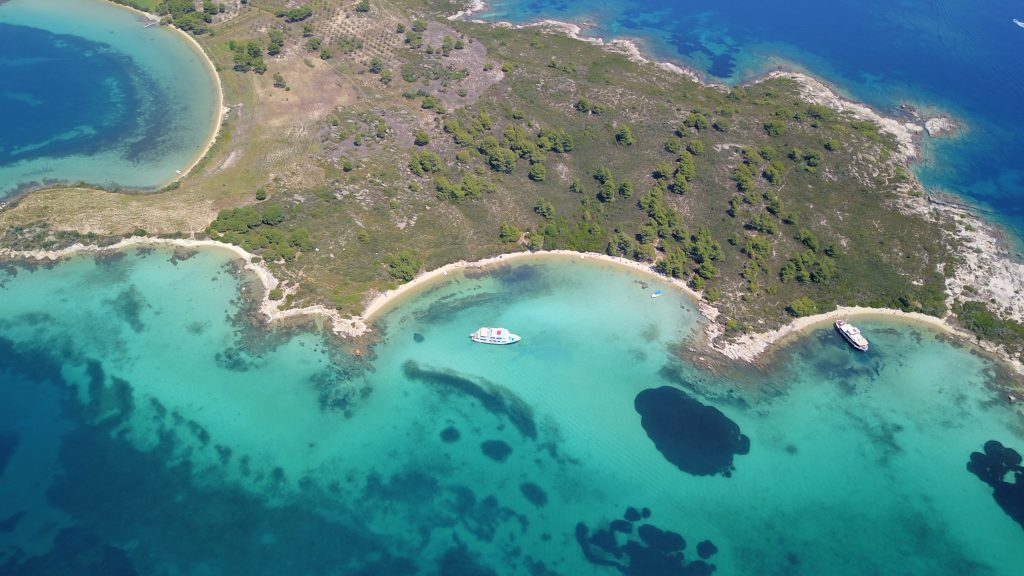 Here is the Blue Lagoon of Halkidiki