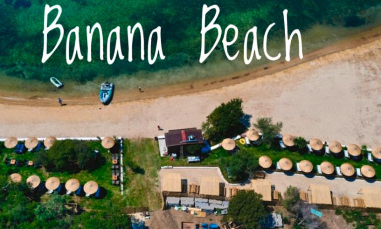 Swimming in the breathtaking waters – Banana beach Ammouliani