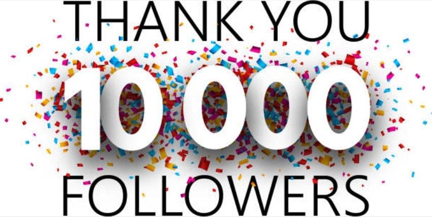 Celebrating 10,000 followers in Facebook