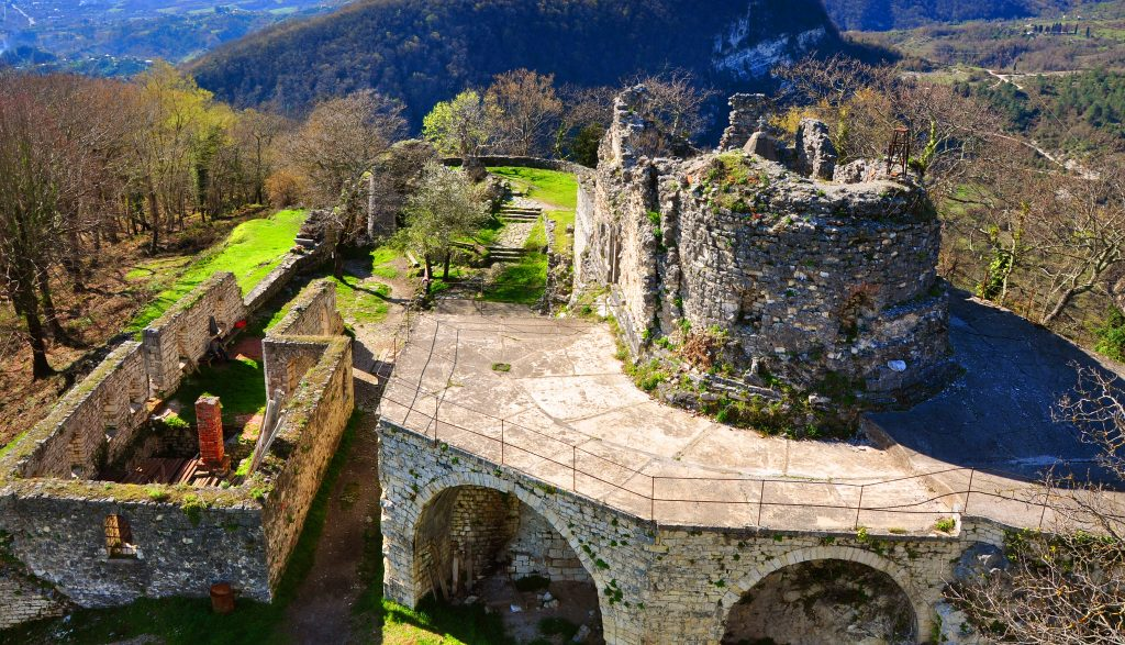 mount athos ruins