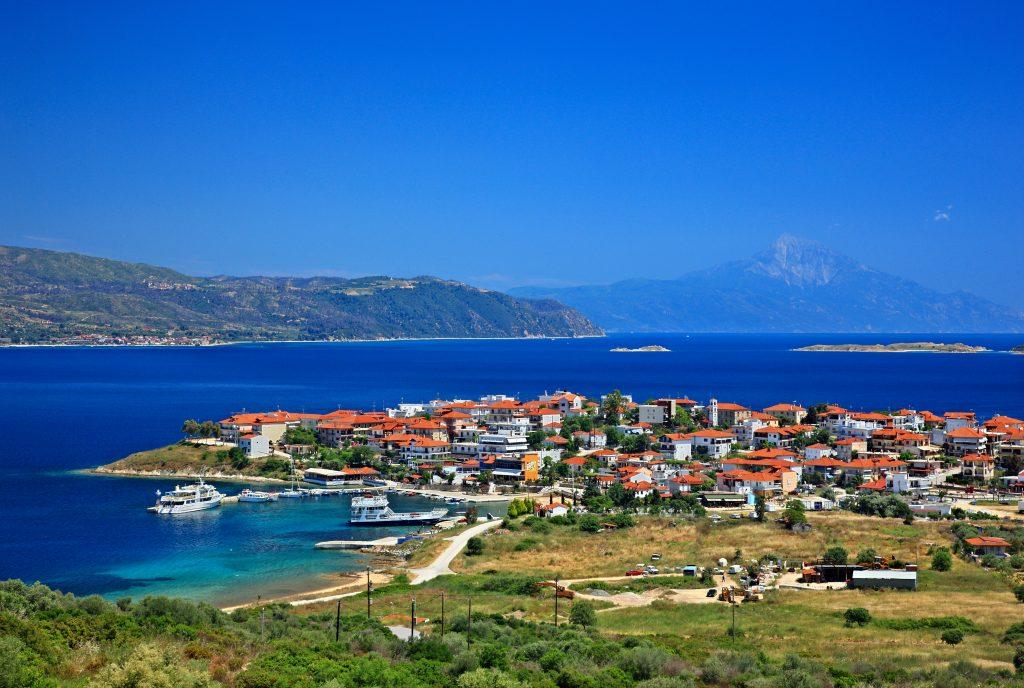 Ammouliani island village Halkidiki Greece