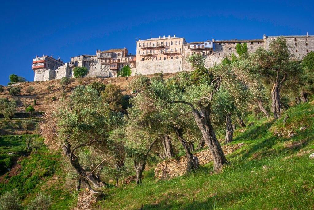 Монастырь Великая Лавра Афон