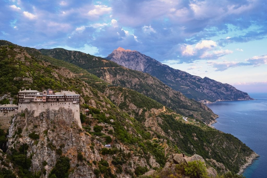 monasteries of mount athos