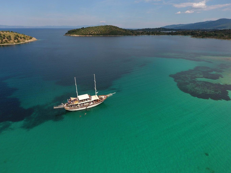 ormos panagias to ammouliani island cruise
